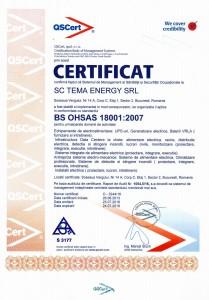 ISO18001 - Management al Sanatatii si Securitatii Ocupationale